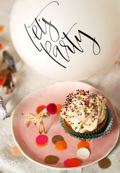 """Twin Stripe 3rd birthday party complete with cupcakes, a cake batter martini, a confetti number """"3"""" & more! // Twin Stripe"""