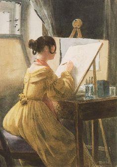 Roza Teleki in the Atelier by Barabás Miklós, 1838