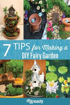 Start your magical Fairy Garden with these tips for making a Fairy Garden by DIY Ready at http://diyready.com/7-tips-for-making-a-diy-fairy-garden