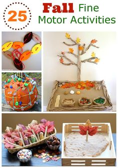 25 Fall Fine Motor Activities - lots of fun ideas to help kids practice their fine motor skills with a Fall flair!
