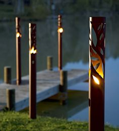 Ethanol Fueled Twig Torch | Outdoor Lighting