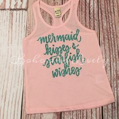 Mermaid wishes and starfish kisses tank by bohoandlovely on Etsy