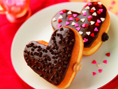 We heart our Cookie Dough and Brownie Batter Donuts!