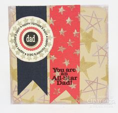 fathers day card, stamped card,colorbox,clearsnap,tami sanders -sz