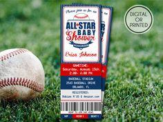 Baseball Baby Shower Invitations  Baseball by GreatOwlCreations