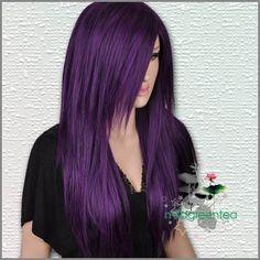 purple hair. so pretty