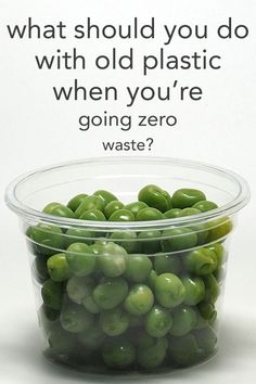 What should you do with old plastic when you're going zero waste and plastic free? From www.goingzerowaste.com