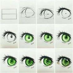 ▷ ideas and inspirations on how to draw eye - drawing for beginners, drawing manga eyes, green eye, indication in pictures - Realistic Eye Drawing, Drawing Eyes, Drawing Sketches, Art Drawings, Pencil Sketching, Pencil Drawings, Eye Drawing Tutorials, Drawing Techniques, Art Tutorials