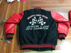 #leathersleevejackets Custom Made Leather Sleeve Jackets With Custom Logo  Maha Sports is Manufacturer & Wholesaler of High Quality Custom Made Go Kart Racing Suits. We also Manufacture Go Kart Racing Shoes/Boots ,Gloves, Balaclavas, Caps, Neck Protectors, Tyre bags, Jackets, Rib Protectors, T-shirts, Polo shirts, Team shirt and Hoodies with customer logos. For more details you can log on to our website www.maha-sports.com. Feel free for contacting us for any query Many Thanks
