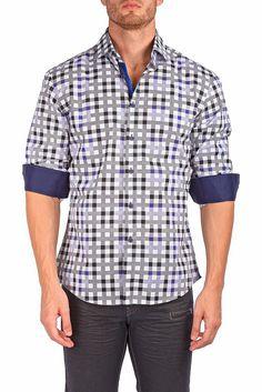 162538 - Black Button Up Long Sleeve Dress Shirt