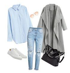 """casual elegance"" by marta-miecznikowska on Polyvore featuring moda, H&M i Converse"