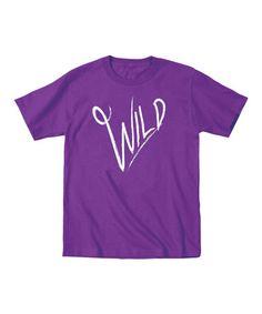 Another great find on #zulily! Purple 'Wild' Tee - Toddler & Kids #zulilyfinds