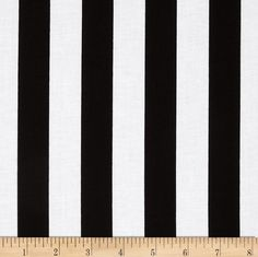 """Riley Blake 1"""" Stripe Black from @fabricdotcom  From Riley Blake, this cotton print fabric is perfect for quilting, apparel and home décor accents.  Each stripe measures 1'' and is printed parallel to the selvege as pictured.  Colors include white and black."""