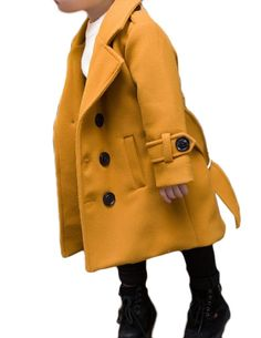 Aprilley Boys Overcoat Coat Dress Long Sections Stylish Peacoats Yellow 90cm. We are Asin size, 1 or 2 size smaller than US size. pls pay attention to size details to choose a correct size for you. when you have problems, please contact us firstly before open ATZ.