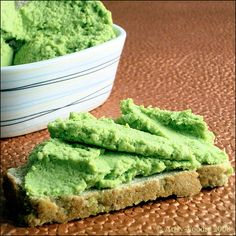 Edemame Avocado Spread. I have made this, and it is fabulous!! I used it as a spread to make a BLT on a whole grain tortilla....so good!