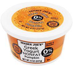 Nonfat Greek Pumpkin Yogurt - Trader Joe's $1.29/8 oz