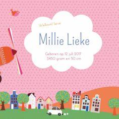 Geboortekaartje Millie - ZW binnen