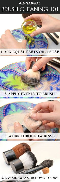 How to Clean Your Makeup Brushes Naturally Where to buy Real Techniques brushes makeup -$10 http://youtu.be/eqlihtAACIY #realtechniques #realtechniquesbrushes #makeup #makeupbrushes #makeupartist #makeupeye #eyemakeup #makeupeyes