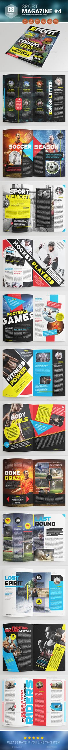 Sport Magazine Template Download: http://graphicriver.net/item/sport-magazine-4/9482475?ref=ksioks