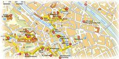 Stadtrundgänge auf Stadtplänen