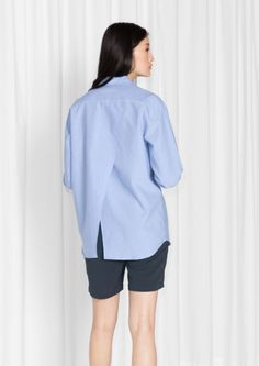 & Other Stories | Overlap Back Cotton Shirt