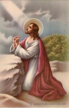ESTAMPA - JESÚS ORANDO (Coleccionismo - Laminas, Programas y Otros Documentos)