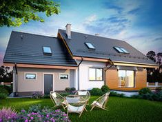 DOM.PL™ - Projekt domu DN KARMELITA BIS 2M CE - DOM PC1-47 - gotowy koszt budowy Outdoor Decor, Home Decor, Model, Decoration Home, Room Decor, Scale Model, Home Interior Design, Models