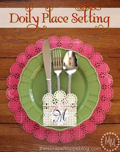 doily place setting