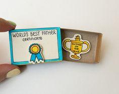 Cute & fun Handmade Matchbox Cards par shop3xu sur Etsy