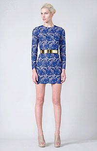 Stella McCartney lace dress and metal belt which I secretly want: eco-friendly high fashion = <3