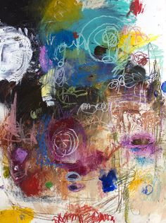 original abstract art painting on paper by michel keck    ...BTW,Please see:  http://artcaffeine.imobileappsys.com