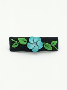Blue Flower Barrette 2.5 Inches; Spring Blossom; Floral Hair Accessory Fashion; Style No: BLF05 by EmilyMah on Etsy