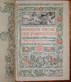 Alderbrink Press (1897 - 1928?) Sonnets From the Portuguese by Elizabeth Barrett Browning printed 1899