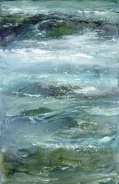 Mystic sea waves painting - Maureen Kerstein (hva)