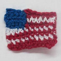 Crochet Spot » Blog Archive » Crochet Pattern: American Flag - Crochet Patterns, Tutorials and News