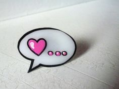 Polyshrink ring love comic di mondejolie su Etsy, $10,00