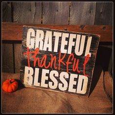 Grateful THANKFUL Blessed rustic sign by AllMyGoodness on Etsy, $37.00