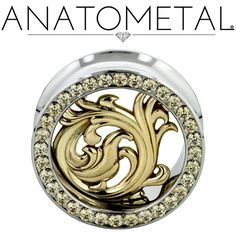Anatometal Nouveau Eyelets are in implant grade stainless or solid 18 karat gold, and are hand-polished to a mirror finish.