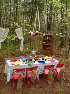 """Photo 1 of 38: Toadstools & gnomes! / Birthday """"Enchanted Woodland Tea Party""""   Catch My Party"""