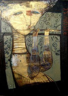 "Saatchi Art Artist Rusudan Khizanishvili ; Painting, ""Wonder song -2"" #art"