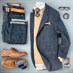 Outfit for Mens Mens Fashion Wear, Stylish Mens Fashion, Big Men Fashion, Fashion Tips, Style Outfits, Men's Outfits, Smart Outfit, Gq Style, Dapper Men