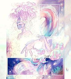 Mermaid Drawings, Mermaid Art, Anime Drawings Sketches, Cute Drawings, Strawberry Moons, Strawberry Baby, Strawberry Pretzel, Strawberry Muffins, Strawberry Spinach