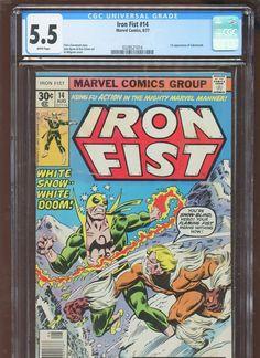 #certified #graded #cgc #cpgx #art #DC #Marvel #comic Iron Fist 14 CGC 5.5 FN   MARVEL 1977   1st Sabretooth