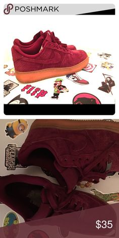f1e16d33c27 Maroon Nike s Like new! Worn a couple times Shoes Sneakers