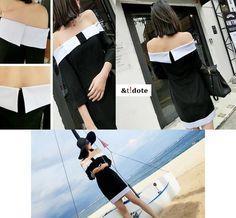 Simple elegant, off shoulder monotone dress. From Antidote, www.facebook.com/AntidoteBySan
