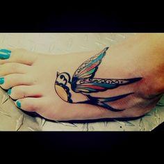 Swallow Feet Tattoo Idea