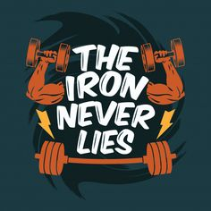 The iron never lies tshirt for mans and women's and available in different colors, this is the best tshirt for gym, workout, train and sport lovers, Comfortable Fitness Motivation Wallpaper, Gym Motivation Quotes, Gym Quote, Gym Workout Tips, Yoga Workouts, Workout Outfits, Workout Tanks, Workout Fitness, Gym Interior