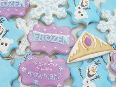 These adorable Disney Frozen cookies will bring joy to any Frozen fan. The cookies can be customized to match your party decor. These are a soft