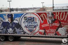 The NHL's 'ice truck' has arrived at the Big House for the 2014 NHL Winter Classic. (12/12/13)
