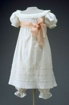 Regency girls dress with pantelettes